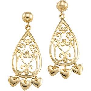 14kt Yellow Gold Chandelier Earring