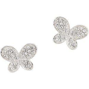 Sterling Silver Cubic Zirconia Butterfly Earring