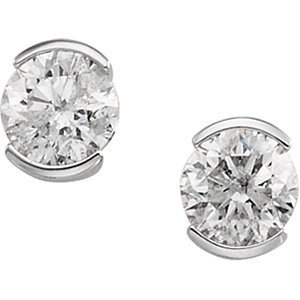 14kt White Gold .25 ctw Diamond Stud Earring