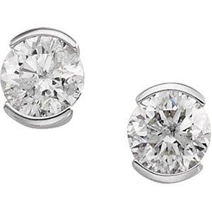 18kt White Gold .25 ctw Diamond Stud Earring