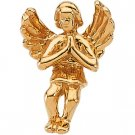 14kt Yellow Gold Praying Angel Label Pin
