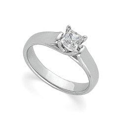 Platinum Solitaire Diamond Bridal Engagement Ring