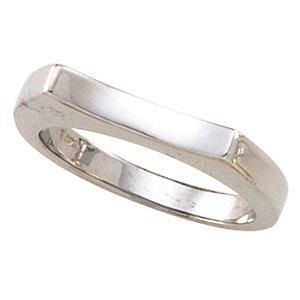14kt White Gold Metal Fashion Ring