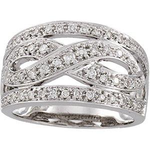 14kt White Gold .50 Diamond Ring