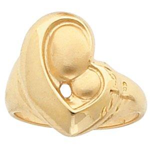 14kt White Gold Mother's Love Heart Ring