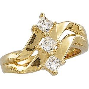 3 Princess cut .63 ctw Diamond Ring