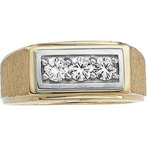 14kt Yellow Gold Men's Diamond Ring