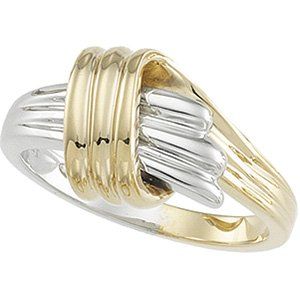 14kt Two Tone Gold Metal Fashion Ring