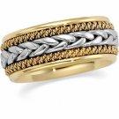 14kt Platinum & Gold Hand Woven Band