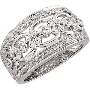 14kt White Gold .33 ctw Diamond Ring