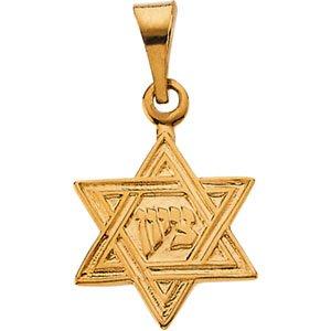 14kt Yellow Gold Star of David Pendant