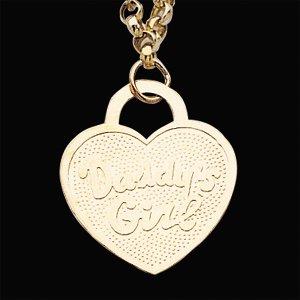 14kt Yellow Gold Daddy's Girl Heart Rolo Bracelet