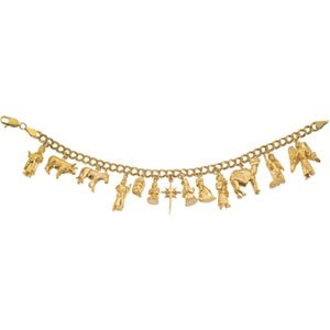 14kt Yellow Gold Nativity Bracelet