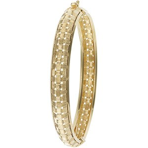 14kt Yellow Gold Hinged Bracelet