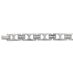 14kt White Gold Men's 2ctw Diamond Bracelet
