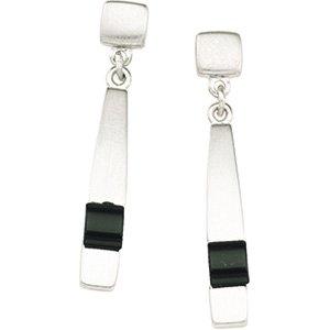 Sterling Silver & Onyx Earring