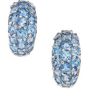Sterling Silver Swiss Blue Topaz Earring