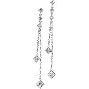 14kt White Gold .17 ctw Diamond Earring