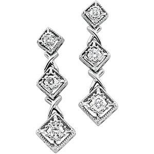 14kt White Gold .50 ctw Diamond Earring