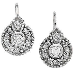 14kt White Gold .50 ctw Diamond Earring
