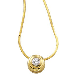 14kt Yellow Gold .25 ctw Diamond Solitaire Necklace