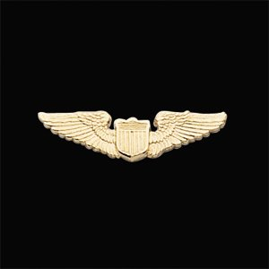 14kt White Gold U.S. Army Aviator Lapel Pin
