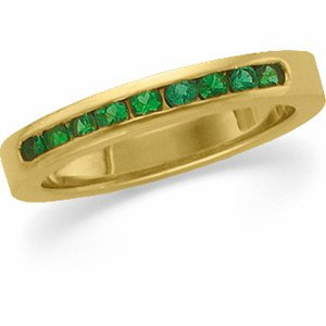 14kt Yellow Gold Emerald Anniversary Band