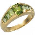 14kt Yellow Gold Peridot Ring