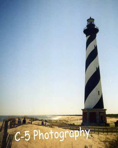 Cape Hatteras Lighthouse (Hatteras 01) - 8 x 10 Matted Photograph