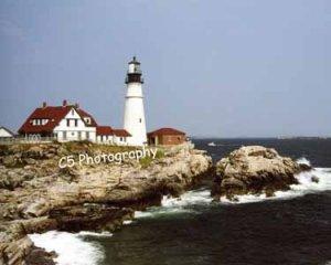 Portland Head Lighthouse (Portland 002) - 8 x 10 Matted Photograph
