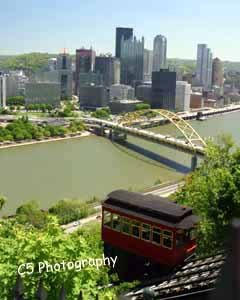 Duquesne Incline Pittsburgh (Pitt 016) - 8 x 10 Matted Photograph