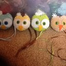 Crochet owl ornaments