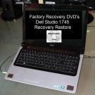 Dell Studio 1745 Recovery Restore DVD Disc Set