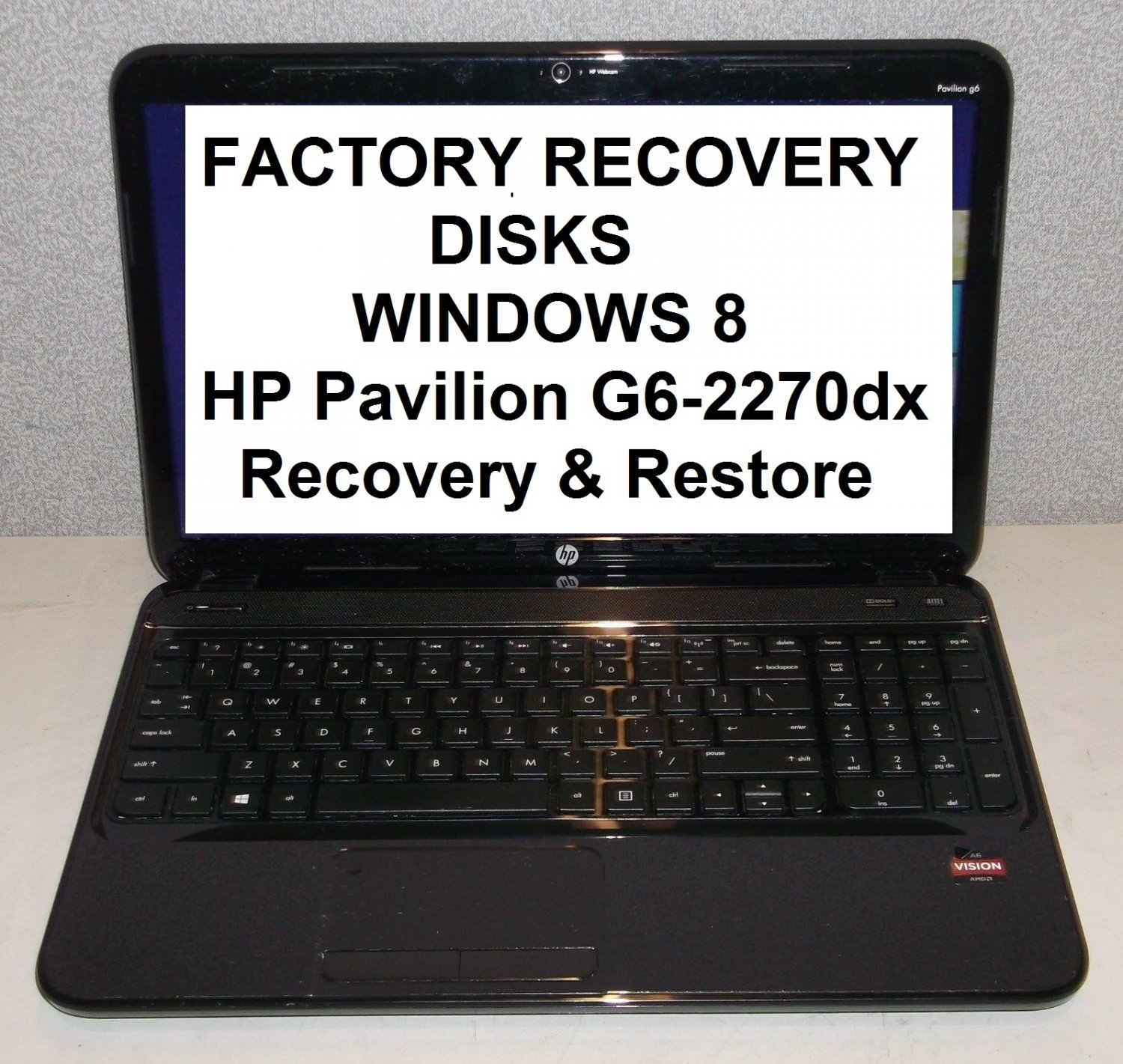 Hp pavilion recovery cd disk 6 of 750n