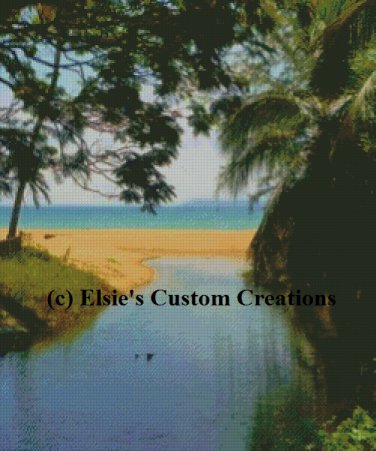 Beach At Tioman 1 - PDF Cross Stitch Pattern