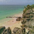 Tulum Mexico Ocean View 1 - PDF Cross Stitch Pattern
