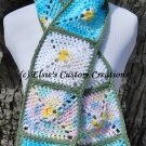 Spring Florals Scarf - PDF Crochet Pattern
