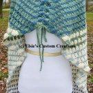 Scrap Buster Striped Granny Style Shawl Cape - PDF Crochet Pattern