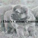 Puppies At Play - Grey Scale - PDF Cross Stitch Pattern