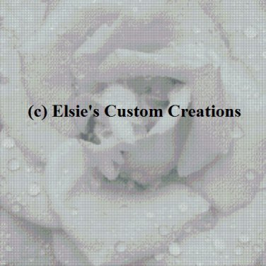 Rose 1 - Grey Scale - PDF Cross Stitch Pattern