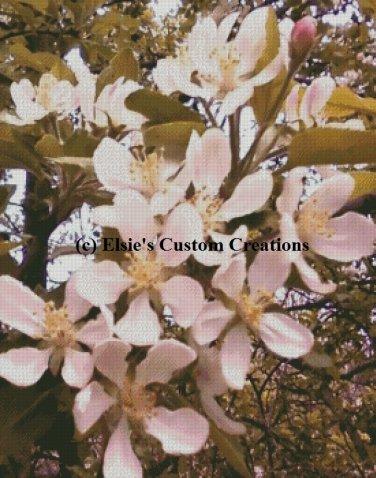 Apple Blossoms 1 - PDF Cross Stitch Pattern