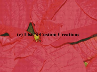 Poinsettia Flowers 1 - PDF Cross Stitch Pattern