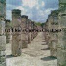 Chichen Itza Mexico Ruins 1 - PDF Cross Stitch Pattern