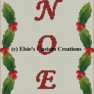 Noel Christmas Stocking - PDF Cross Stitch Pattern