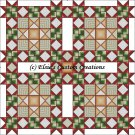 Shaped Quilt 5 Star Earthen Holly Berries - PDF Cross Stitch Pattern