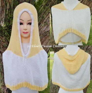 Cotton Capelet Hoodie - PDF Knitting Pattern