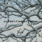Sunset Snowy Branches - PDF Cross Stitch Pattern