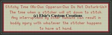 Stitchy Time - PDF Cross Stitch Pattern