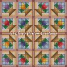Full Size Quilt Flower Baskets - PDF Cross Stitch Pattern