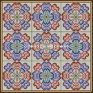 Full Size Quilt Floral Hearts - PDF Cross Stitch Pattern